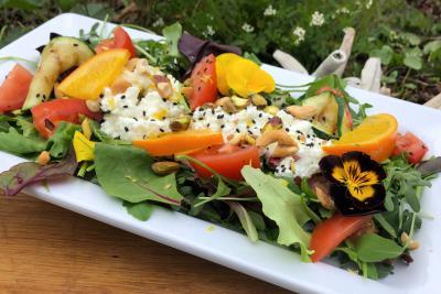 Salade met verse geitenkaas van Rustenburg