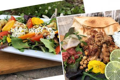 combinatie Wrap kippedijen en salade Rustenburg
